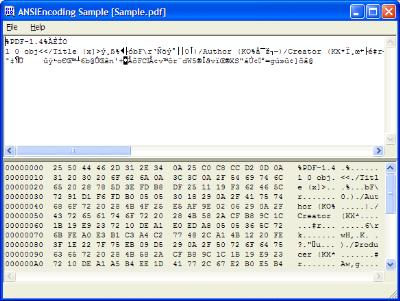 Screenshot for ANSIEncoding