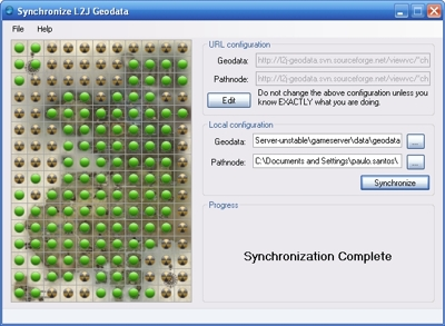 Screenshot for L2J Geodata Synchronizer
